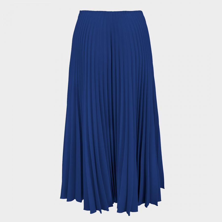 Синяя юбка гофре