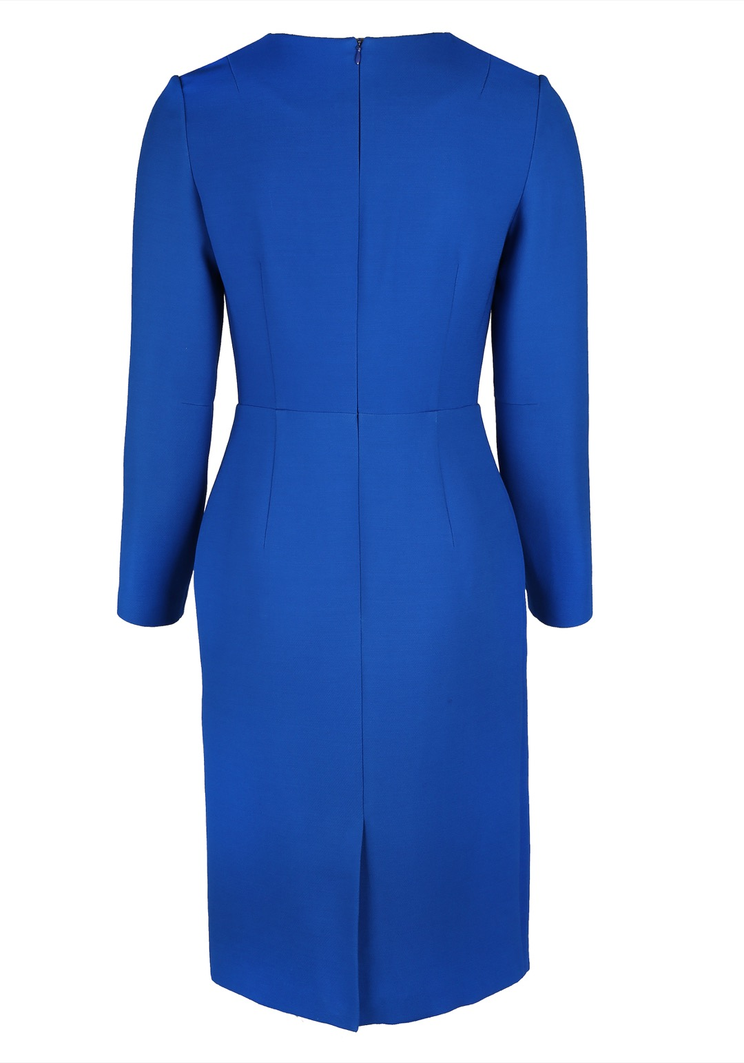 Синее базовое платье-футляр